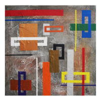 """George Marlowe Signed """"Interruptions"""" 24x24 Original Acrylic Painting on Canvas at PristineAuction.com"""