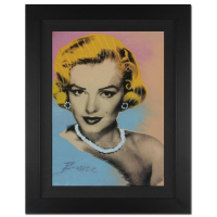 "Ringo Signed ""Sophisticated Marilyn"" 16x20 Custom Framed One-of-a-Kind Mixed Media Painting on Canvas #25/50 at PristineAuction.com"