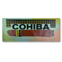 "Steve Kaufman Signed ""Cohiba Cigar"" 12x28 HC Edition Hand Pulled Silkscreen Mixed Media on Canvas at PristineAuction.com"