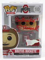 "Jim Tressel Signed Ohio State Buckeyes #10 Funko Pop! Vinyl Figure Inscribed ""Go Bucks!"" (PSA Hologram) at PristineAuction.com"