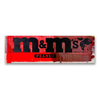 "Steve Kaufman Signed ""M&Ms"" Limited Edition 15x49 Hand Pulled silkscreen Mixed Media on Canvas at PristineAuction.com"