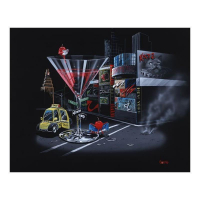 """Michael Godard Signed """"Cherry Cosmo II"""" Limited Edition 28x35 Giclee on Canvas at PristineAuction.com"""