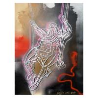 "Mark Kostabi Signed ""Navigating The Dark Side Of Passion"" 30x22 Original Artwork at PristineAuction.com"
