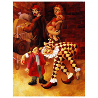 "Yuroz Signed ""The Harlequin's Gift"" Limited Edition 48x36 Serigraph on Canvas at PristineAuction.com"