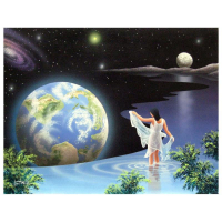 """Ken Shotwell Signed """"Mother Earth"""" 18x22 Original Panting on Board at PristineAuction.com"""