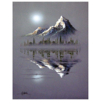 "Ken Shotwell Signed ""Reflection"" 22x18 Original Panting on Canvas at PristineAuction.com"
