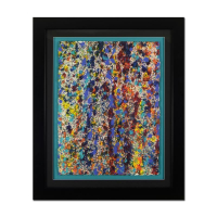 """Wyland Signed """"Pollack Coral Reef"""" 34x41 Custom Framed Original Watercolor Painting at PristineAuction.com"""