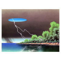 """Ken Shotwell Signed """"The Storm"""" 18x24 Original Panting on Board at PristineAuction.com"""
