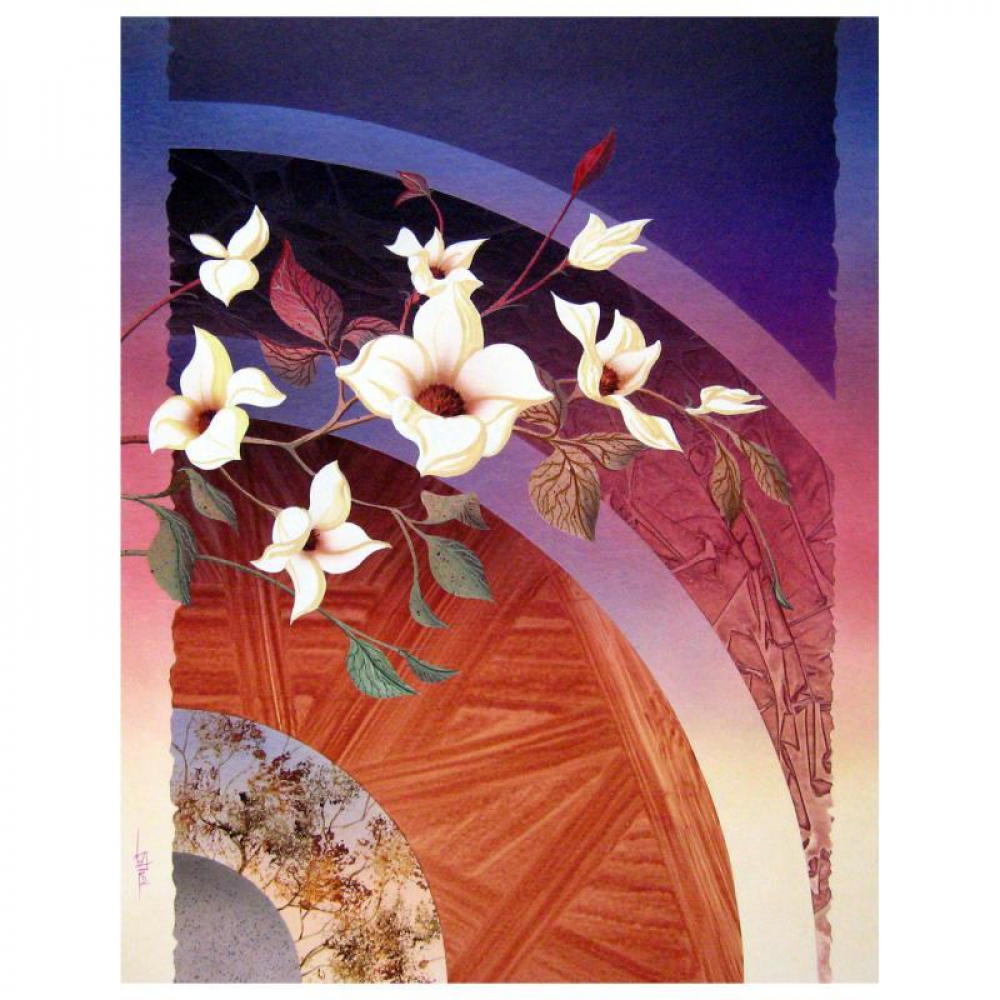 "Ken Shotwell Signed ""Blossoms II"" 30x24 Original Panting on Board at PristineAuction.com"