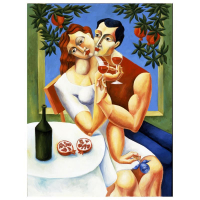 "Yuroz Signed ""Toast To Love"" Limited Edition 40x30 Serigraph on Canvas at PristineAuction.com"