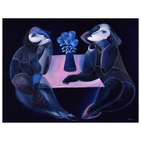 "Yuroz Signed ""Table Of Negotiation"" Limited Edition 36x48 Serigraph on Canvas at PristineAuction.com"