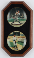 Babe Ruth & Lou Gehrig Limited Edition 14x24 Custom Framed Delphi Ceramics Hand Numbered Plates Display at PristineAuction.com