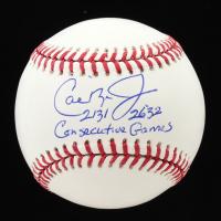 "Cal Ripken Jr. Signed OML Baseball Inscribed ""2131"" & ""2632 Consecutive Games"" (JSA COA) at PristineAuction.com"
