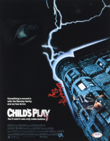 """Ed Gale Signed """"Child's Play"""" 11x14 Photo Inscribed """"Chucky"""" (PSA Hologram) at PristineAuction.com"""