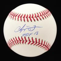 "Chipper Jones Signed OML Baseball Inscirbed ""HOF 18"" (JSA COA) at PristineAuction.com"