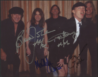 "AC/DC 8x10 Photo Band-Signed by (4) with Brian Johnson, Angus Young, Cliff Williams & Malcolm Young Inscribed ""AC/DC"" (PSA LOA) at PristineAuction.com"