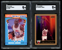 Lot of (2) Michael Jordan 1990-91 SGC Graded Basketball Cards with Skybox #41 (SGC 9) & Fleer All-Stars #5 (SGC 9) at PristineAuction.com
