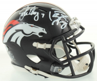 John Elway & Peyton Manning Signed Broncos Speed Mini Helmet (PSA COA) at PristineAuction.com