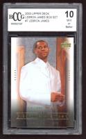 2003 Upper Deck LeBron James Box Set #7 LeBron James / High School Superstar (BCCG 10) at PristineAuction.com