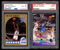 Lot of (2) Michael Jordan PSA Graded Basketball Cards with 1990-91 Hoops #5 AS SP (PSA 8) & 1992-93 Upper Deck #425 AS (PSA 9) at PristineAuction.com