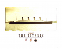 Authentic Coal, Wood & Rusticle From Titanic Wreckage on 8x10 Photo (The Zone COA) at PristineAuction.com