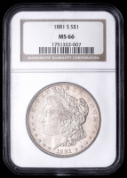 1881-S Morgan Silver Dollar (NGC MS66) (Toned) at PristineAuction.com