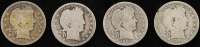 Lot of (4) Barber Quarters at PristineAuction.com