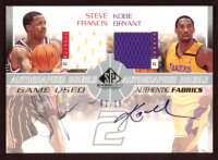 Steve Francis / Kobe Bryant 2003-04 SP Game Used Authentic Fabrics Dual Autographs #35 at PristineAuction.com