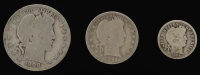 Lot of (3) Barber Silver Coins with 1908-O Half-Dollar, 1894-S Quarter Dollar, & 1906 Dime at PristineAuction.com