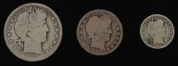 Lot of (3) Barber Silver Coins with 1907-O Half-Dollar, 1902 Quarter Dollar, & 1916 Dime at PristineAuction.com