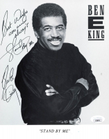 """Ben E. King Signed 8x10 Photo Inscribed """"Best Wishes Now and Always"""" & """"Stand By Me"""" (JSA COA) at PristineAuction.com"""