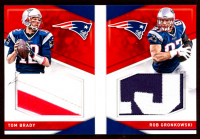 Rob Gronkowski / Tom Brady 2016 Panini Preferred Preferred Pairings Materials Prime #31 at PristineAuction.com