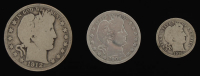 Lot of (3) Barber Silver Coins with 1912-S Half-Dollar, 1909 Quarter Dollar, & 1916 Dime at PristineAuction.com