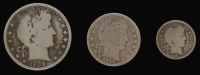 Lot of (3) Barber Silver Coins with 1908-O Half-Dollar, 1915 Quarter Dollar, & 1901-O Dime at PristineAuction.com