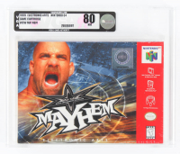 "1999 ""WCW: Mayhem"" Nintendo 64 Video Game (VGA 80) at PristineAuction.com"