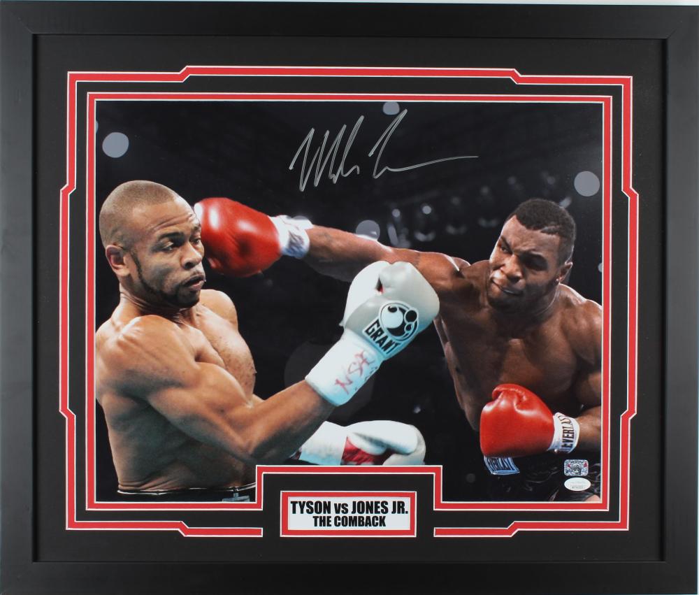 "Mike Tyson Signed ""The Comeback"" 22x26 Custom Framed Photo Display (JSA COA & Fitterman Hologram) at PristineAuction.com"