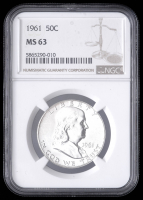 1961 50¢ Franklin Silver Half-Dollar (NGC MS63) at PristineAuction.com