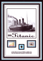 Authentic Coal From Titanic Wreckage on 6x8 Photo (The Zone COA) at PristineAuction.com