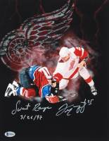 "Darren McCarty Signed Red Wings 11x14 Photo Inscribed ""Sweet Revenge"" & ""3/26/97"" (Beckett COA) at PristineAuction.com"