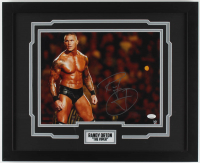 Randy Orton Signed WWE 18x22 Custom Framed Photo Display (JSA COA) at PristineAuction.com