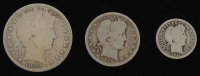 Lot of (3) Barber Silver Coins with 1899 Half-Dollar, 1915-D Quarter Dollar, & 1911 Dime at PristineAuction.com