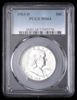 1963-D 50¢ Franklin Silver Half-Dollar (PCGS MS64) at PristineAuction.com