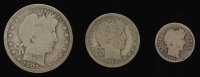 Lot of (3) Barber Silver Coins with 1907-O Half-Dollar, 1914 Quarter Dollar, & 1900 Dime at PristineAuction.com
