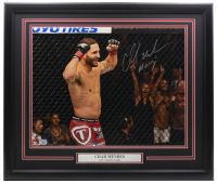 "Chad Mendes Signed UFC 22x27 Custom Framed Photo Display Inscribed ""Money"" (Fanatics Hologram) at PristineAuction.com"