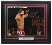 "Chad Mendes Signed UFC 22x27 Custom Framed Photo Display Inscribed ""Money"" (Fanatics Hologram) at PristineAuction.com"