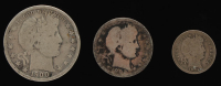 Lot of (3) Barber Silver Coins with 1900 Half-Dollar, 1902 Quarter Dollar, & 1904 Dime at PristineAuction.com