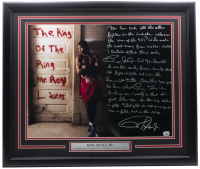 Roy Jones Jr. Signed 22x27 Custom Framed Photo Display with Extensive Story Inscription (Steiner COA & Fanatics Hologram) at PristineAuction.com