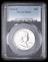 1960-D 50¢ Franklin Silver Half-Dollar (PCGS MS64) at PristineAuction.com