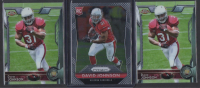Lot of (3) David Johnson Football Cards with 2015 Panini Prizm #224, Topps #473, Topps Chrome #177 RC at PristineAuction.com