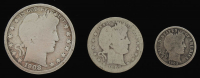 Lot of (3) Barber Silver Coins with 1908-O Half-Dollar, 1907 Quarter Dollar, & 1909 Dime at PristineAuction.com